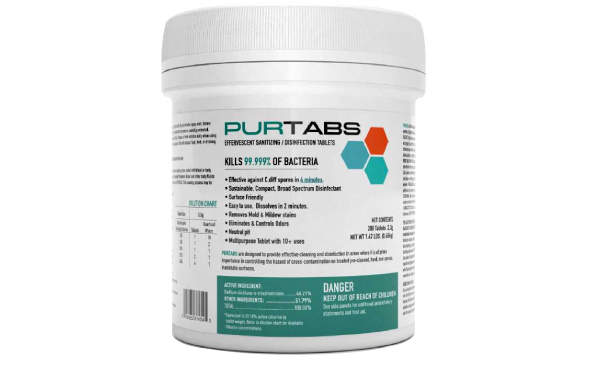 PurTabs Disinfecting Sanitizing Tablets for Aspen Cleaning Company